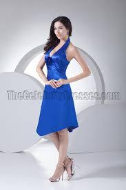 halter bridesmaid dresses discount royal blue halter cocktail bridesmaid dresses