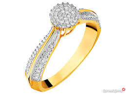 pierscionki apart apart pierścionek z żółtego złota 81 diamentów wrocław