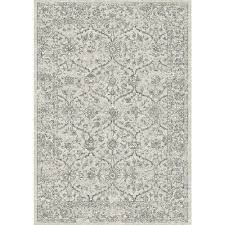 Dynamic Rugs Dynamic Rugs Ancient Garden Silver Grey 6 Ft 7 In X 9 Ft 6 In