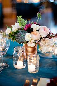 Wedding Centerpieces Diy Diy Upcycled Metallic Tin Can Wedding Centerpieces Mon Cheri Bridals