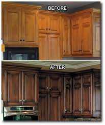 staining kitchen cabinets before and after kitchen updates i love that they did a dark stain with an antique