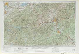 Map Of Tennessee And North Carolina by Knoxville Topographic Maps Nc Tn Sc Usgs Topo Quad 35082a1 At