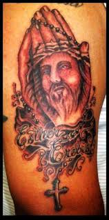 hands jesus custom piece tattoo
