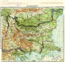 Old Europe Map by Large Scale Old Elevation Map Of Bulgaria Bulgaria Europe
