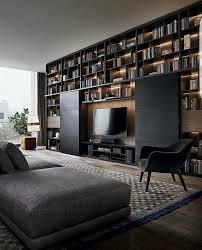 libreria tv salon con mueble librería y tv que se puede ocultar salones