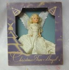antique national tinsel co spun glass angel christmas tree topper