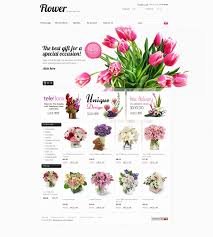 website template 37754 flower online shop custom website template