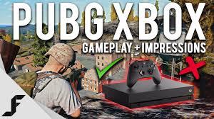 pubg xbox one x free pubg xbox one x gameplay first impressions youtube