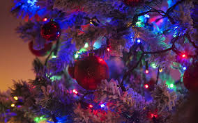 Christmas Light Balls For Trees by Wallpaper Christmas New Year Tree Balls Fairy Lights