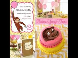 Curious George Centerpieces by Diy Curious George Birthday Party Decorating Ideas Youtube