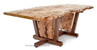 burl wood dining room table nakashima style dining table mid century modern contemporary