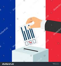 election france concept male hand putting stock vector 603989936