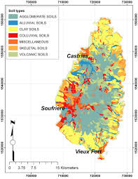 St Lucia Map Landslide Susceptibility And Risk In Saint Lucia Draft Paper