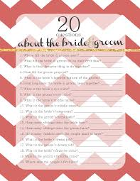 bridal shower groom questions template bride and groom template