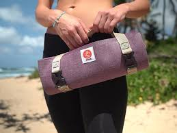 travel yoga mat images This travel yoga mat weighs much less than a regular one and folds jpg