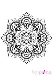 mandala et coloriage fleur à imprimer femme actuelle