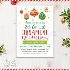 invite ornament exchange by molsdesigns