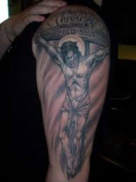 christian sleeve tattoo design photos pictures and sketches