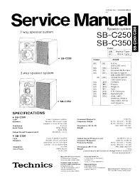 technics sb c250 sb c350 service manual download schematics