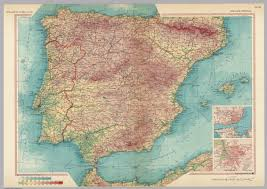 Map Of Spain And Portugal Spain And Portugal Pergamon World Atlas David Rumsey