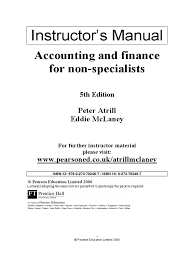 solutions accounting and finance for non specialists by peter
