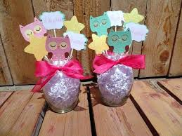 owl centerpieces vase centerpiece ideas for baby shower baby shower gift ideas