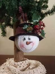 Softball Christmas Ornament - such a cute christmas ornament idea make a snowman out of a