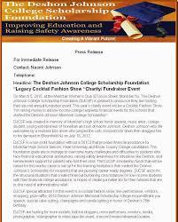 naeun park deshon johnson s college scholarship foundation sample
