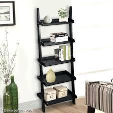 Black Wall Bookshelf Shelves Room Shelves Bathroom Wall Shelf Ladder Leaning Ladder