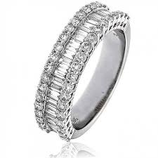 half eternity ring baguette half eternity ring 1 50ct 18k white gold