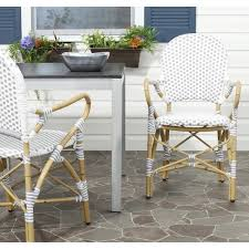 White Arm Chairs Safavieh Rural Woven Dining Hooper Grey White Indoor Outdoor