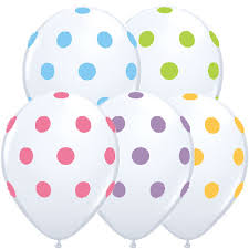 polka dot balloons big polka dots wholesale balloon assortment on white