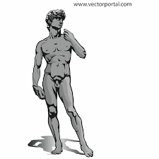 vector for free use michelangelo u0027s david sculpture vector