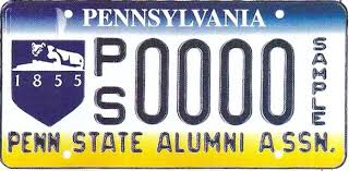 penn state alumni license plate pennsylvania 2 y2k