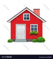 red house icon royalty free vector image vectorstock