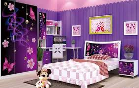 princess bedroom wall paint ideas with purple color and white