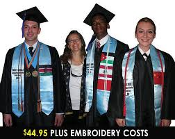 graduation stoles personalized international and study abroad flag stole