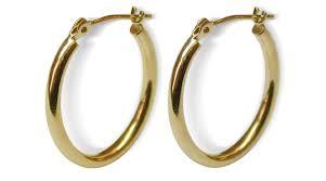 oval hoop earrings 14k yellow gold oval hoop earring