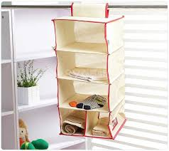 simple pattern non woven fabric hanging closet organizers sygmall
