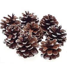 8pcs snow pinecone ornaments tree baubles