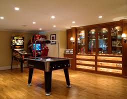 Chandelier Game Interior Cool Decoration Open Game Room Basement Concept That