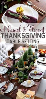 casual and thanksgiving table