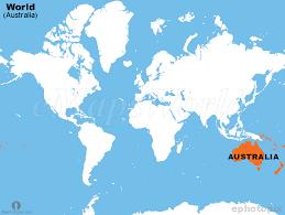 australia world map location location of australia on world map major tourist