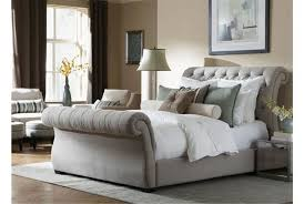 upholstered sleigh bed king pictures reference