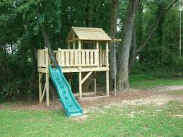 Backyard Playground Custom Wooden Swing Sets  Playsets In - Backyard fort designs