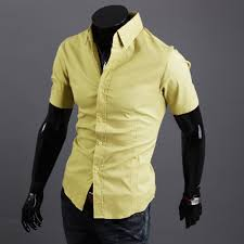 light yellow mens dress shirt men s luxury stylish casual button down short sleeve slim fit dress