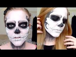 skull skeleton halloween makeup tutorial lulabella11 youtube