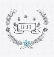 rustic ribbon ribbon banner with flowers vector image