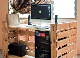 bureau palette bois bureau en bois 34 idées diy très cool en palette europe bureaus