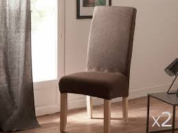 housse de chaise housse de chaise uni bi extensible coton polyester lot